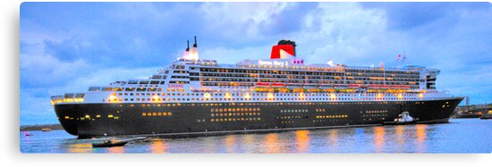 City Of Light - The Queen Mary 2  by Philip Johnson