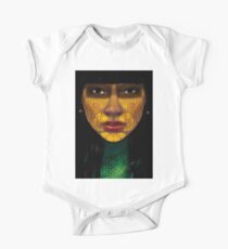 ornate woman Baby Body Kurzarm