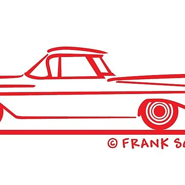 1959 1960 Chevrolet El Camino Red on Blk by azoid