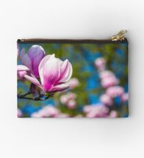 Magnolia flower blossom in spring Studio Pouch