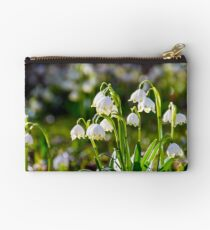 Beautiful blooming of White spring Snowflake Studio Pouch