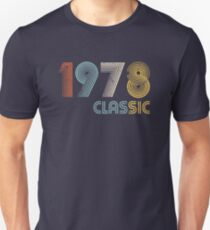 1978 Classic 41 years old birthday  Unisex T-Shirt