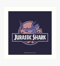 Jurassic Shark - Kibble the Falcatus Shark Art Print
