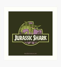 Jurassic Shark - SNIPPET the Sarcoprion Art Print