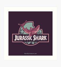 Jurassic Shark - BRUNCH, the Cladoselache Shark Art Print