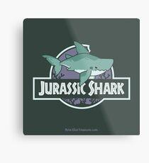 Jurassic Shark - MEGABYTE, the Megalodon Shark Metal Print