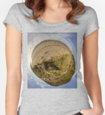 Lisfannon Beach, Fahan, County Donegal, Sky Out Women's Fitted Scoop T-Shirt