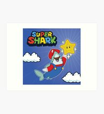 GamerShark - Byte Plays Super Shark Bros Art Print