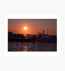 trying to hail a water taxi? Art Print