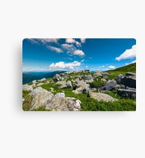 Carpathian alps with huge boulders on hillsides Canvas Print