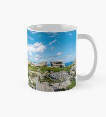 Carpathian alps with huge boulders on hillsides Mug