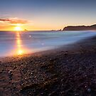 Sunset over the Pacific Ocean from Rialto Beach, Washington by Adam Nixon