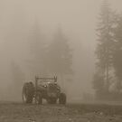 Old Tractor BW by Tori Snow