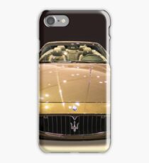 Maserati gold colour iPhone Case/Skin