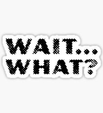 Wait... What? - Stoner Quotes Sticker