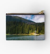 lake in Synevyr national park in springtime Studio Pouch