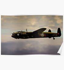 Avro Lancaster / Lancaster  Bomber Digital Painting - World War 2 Art - WWII - WW2 Art Military Poster