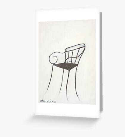 Chair - Paris Greeting Card