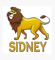 Sidney Lion Drawstring Bags Photographic Print