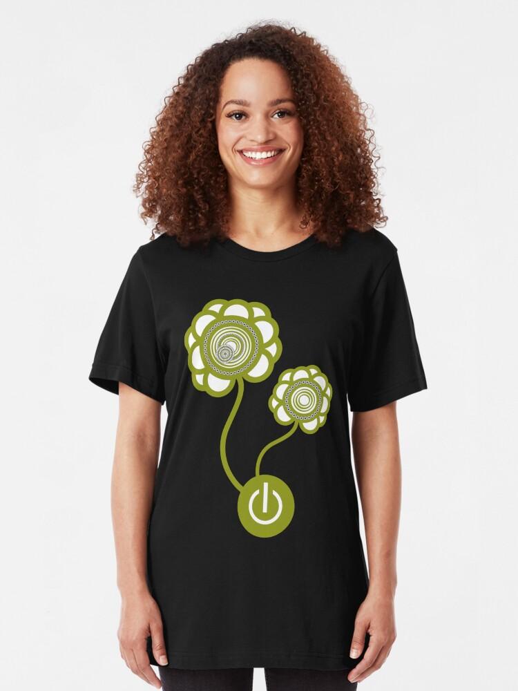 Alternate view of Flower Power Slim Fit T-Shirt