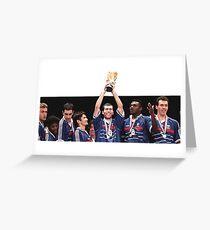 Zidane World Cup 1998 Greeting Card