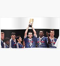 Zidane World Cup 1998 Poster