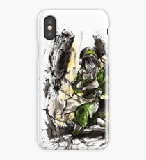 Toph from Avatar with sumi and watercolor iPhone Case
