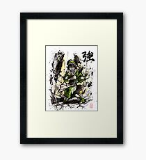 Toph from Avatar with sumi and watercolor Framed Print