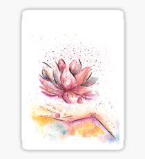 Lotus Flower Watercolor Art Sticker