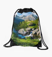wild stream among the rocks Drawstring Bag
