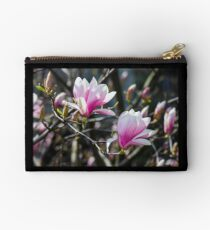blossom of magnolia tree in springtime Studio Pouch