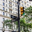 New York Traffic Lights & Signs at Wall Street / Broadway Junction by arosecast