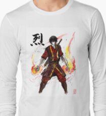 Zuko von Avatar mit Sumi Tinte und Aquarell Langarmshirt