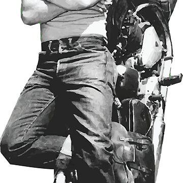 Marlon Brando motorcycle by opngoo