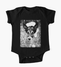 Terrier Obsession: It's All About The Ball - Black and White Remix One Piece - Short Sleeve