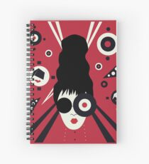 Bulls Eye Girl Spiral Notebook