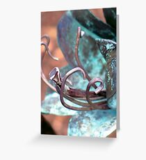 Patina Flower Greeting Card