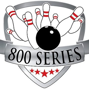 Bowling 800 Series Achievement Logo / Graphic by SandpiperDesign