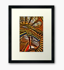 Old Style Workmanship - The Grand Staircase, Queen Victoria Building - The HDR Experience Framed Print