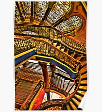 Old Style Workmanship - The Grand Staircase, Queen Victoria Building - The HDR Experience Poster