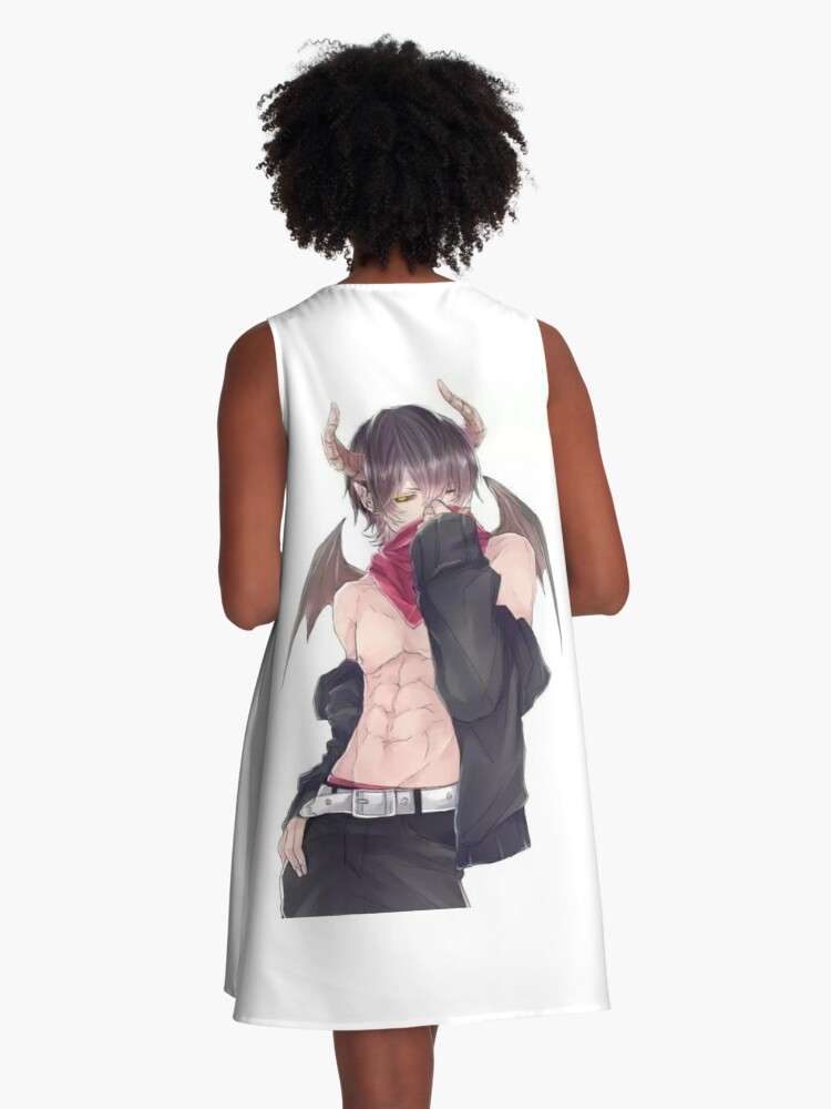 Anime Boy A Line Dress By Queenbk Redbubble