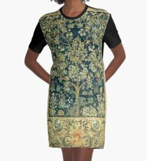 Tree of Life by William Morris Graphic T-Shirt Dress