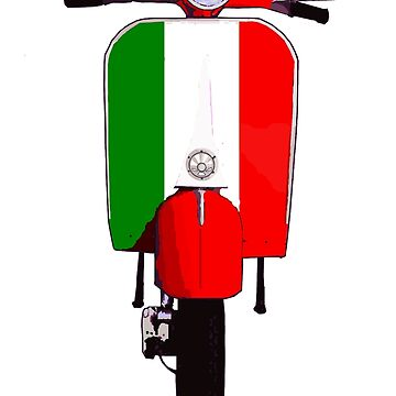Classic Italian Scooter Art by Auslandesign