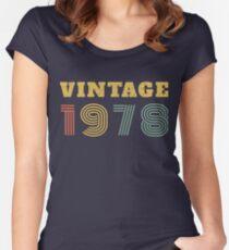 Camiseta entallada de cuello redondo 40.o Regalo de cumpleaños Vintage 1978 Año Camiseta