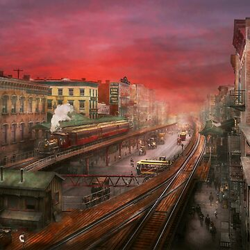 City - NY - Rush hour traffic - 1900 by mikesavad