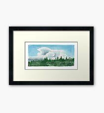 Storm Building Framed Print