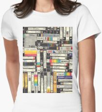 80s VHS TAPES Women's Fitted T-Shirt