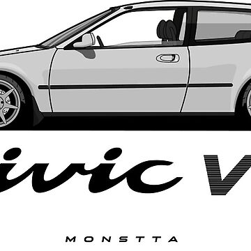 Civic Hatchback 1992 (gray and white) by monstta