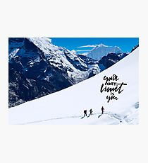 Climbing Everest  Photographic Print