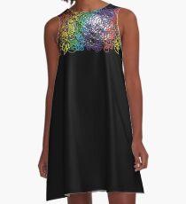 rainbow squiggle  A-Line Dress